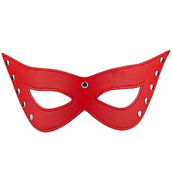 TRIXES Red Faux Leather Cat Eyes Mask Sexy Fancy Dress Masquerade