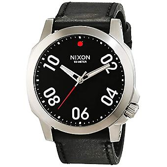 Nixon A466008-00--men's wristwatch, leather, color: black