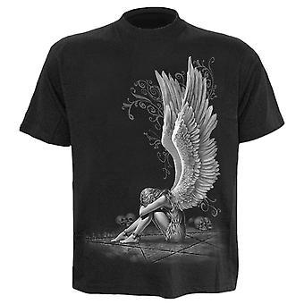Spiral Black Enslaved Angel T-Shirt