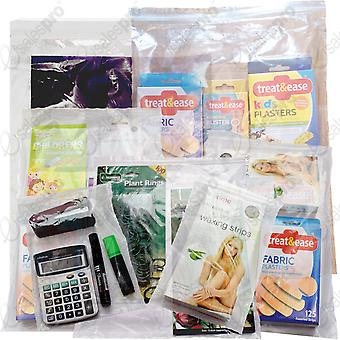 Simply Direct Clear Grip Seal Plastic Poly Press & Seal Bags (GL11 - GL17) - Assorted Sizes & Quantities