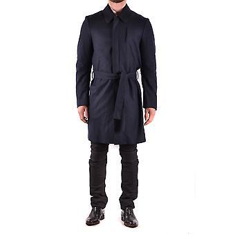 Costume National Ezbc066023 Men's Blue Wool Trench Coat