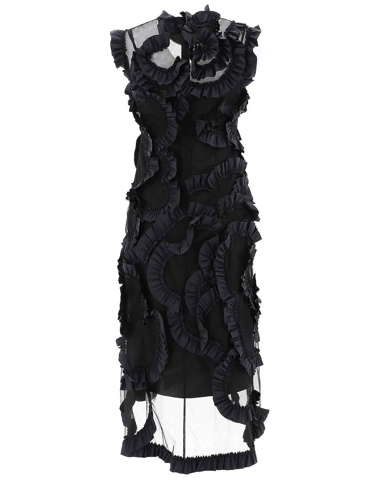 Moncler Genius 6811302549yz999 Women-apos;s Robe en soie noire StQCCF