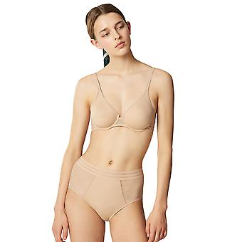 Maison Lejaby 171213-389 kvinnors Nufit Power huden Beige vadderad bygel Full kopp BH