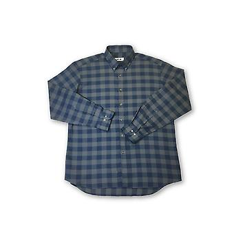 Ingram shirt in navy and grey check pattern