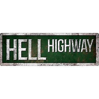 Grindstore Hell Highway Slim Tin Sign