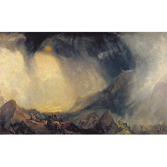 Snow Storm, Hannibal and his Amy Crossing, J. M. W. Turner, 60x37cm