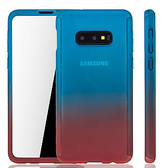 Samsung Galaxy S10e Phone Case Protection Case Full Cover Tank Protection Foil Blue/ Red Samsung Galaxy S10e Phone Case