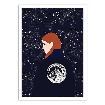 Art-Poster - Back to the moon - Celestial Wallaert 50 x 70 cm
