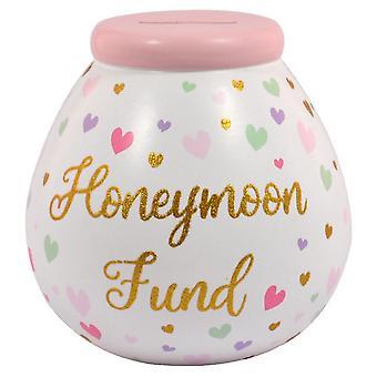 Pots Of Dreams Honeymoon Fund Ceramic Money Pot