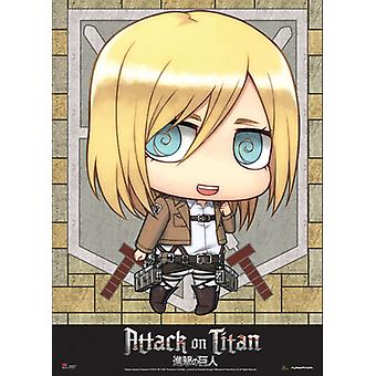 Fabric Poster - Attack on Titan - New SD Christa Wall Scroll Anime New ge79085