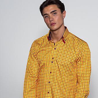 CLAUDIO LUGLI Double Collar Check Shirt