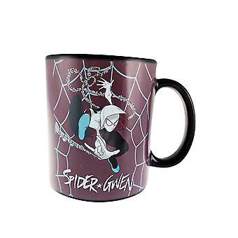 Mug - Marvel - Spider Gwen Web Heat Change New cmgc-mn-gweb