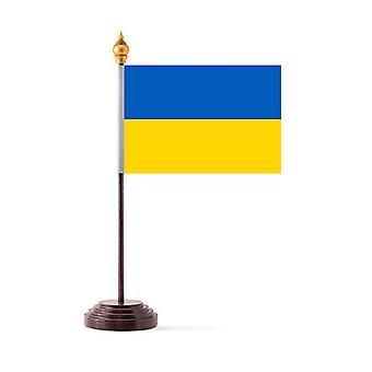 Ukraina Tabellflagg med pinne og Base