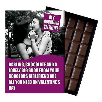 Walentynki prezenty lesbijki kobiety LGBT partner cywilny żona czekolada powitanie karta obecny NDL105