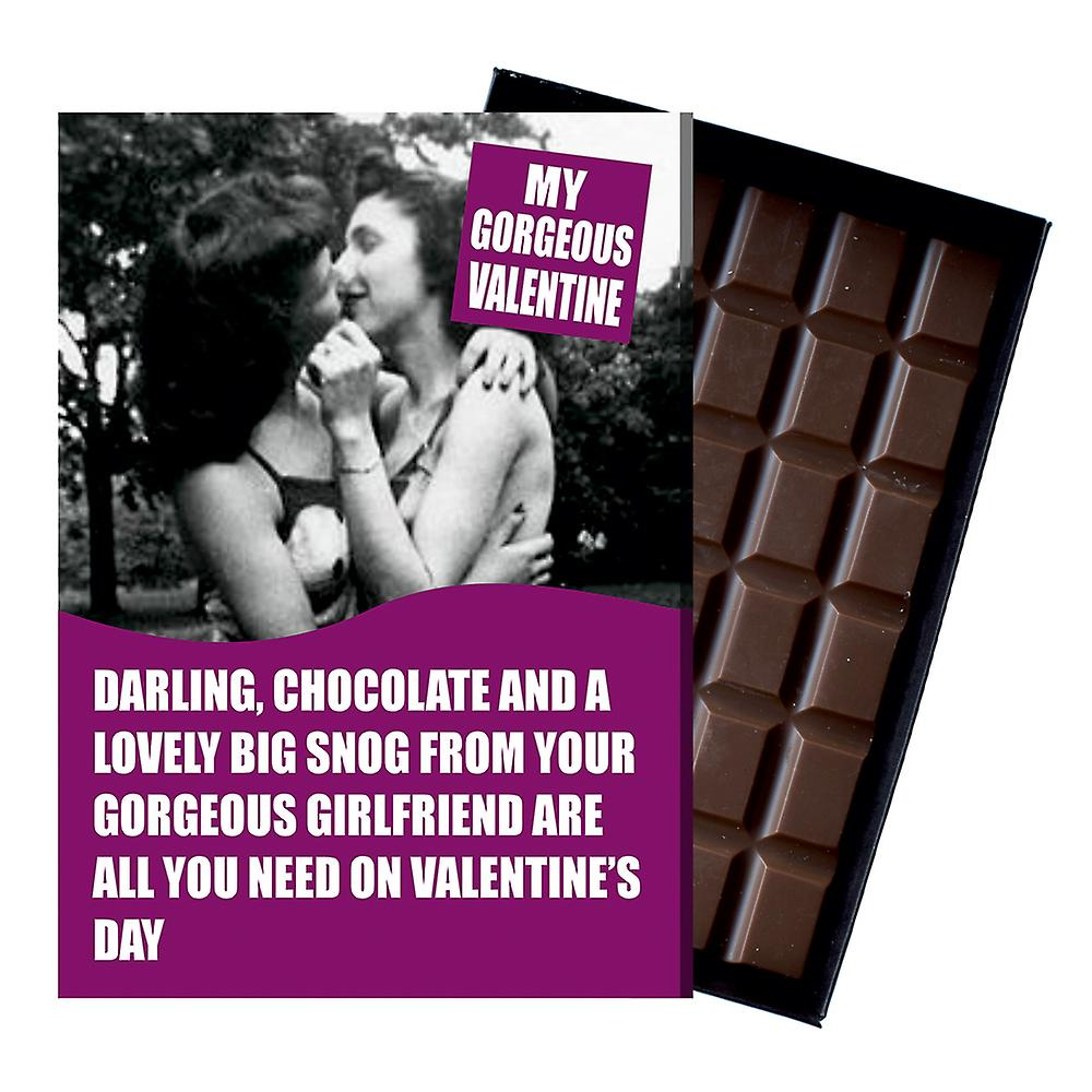 Valentines Day Gifts Lesbian Women LGBT Civil Partner Wife Chocolate Greeting Card Present NDL105