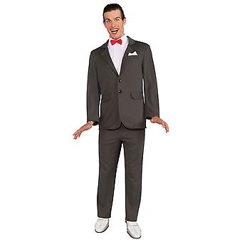 Pee-Wee Herman Comic Funny 1980s TV Show Adventure Adult Mens Costume STD