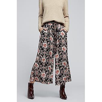 Louche Gatley Wildrose Drawstring Trouser Black