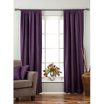 紫色のタブ上のベルベットのカーテン/ドレープ/パネル - ピース