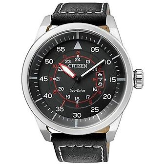 Citizen Eco-Drive Aviator Power Reserve Aw1360-04e mannen ' s-horloge