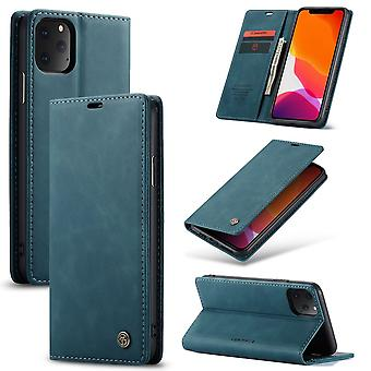 Beschermende case faux leder cover voor Apple iPhone 11 Pro blauw geval Wallet Case geval