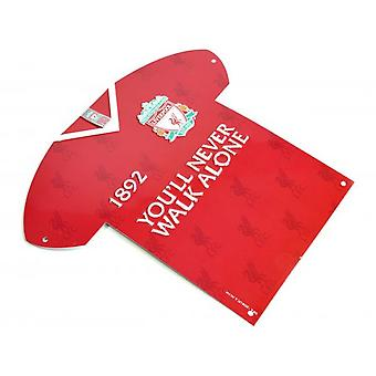 Liverpool FC Crest Metal Shirt Sign