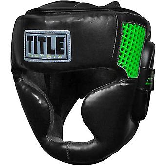 Title Boxing Matrix Full Face Training Headgear - Black/Neon Green