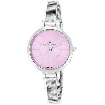Christian Van Sant Women's Skinny Pink Dial Watch - CV6612