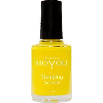 MoYou Stamping Nail Art - Special Nail Polish - Yellow 12ml