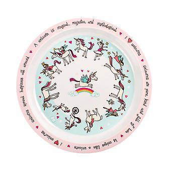 Tyrrell Katz Unicorns Design Melamine Plate