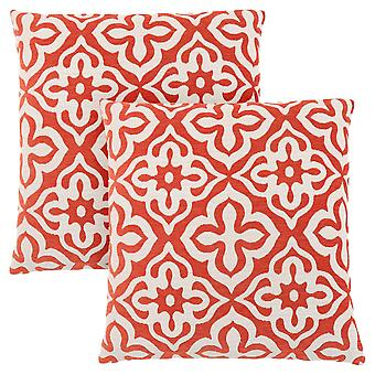 "18"" x 18"" Orange, Motif Design - Pillow 2pcs"