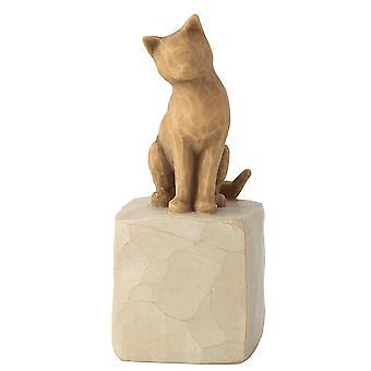Willow Tree älskar min katt ljus statyett