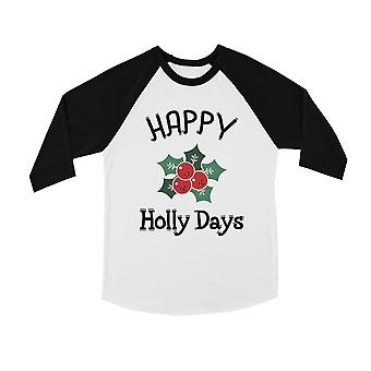 Onnellinen Holly Days hauska BKWT lasten baseball-paita X-Mas lahja