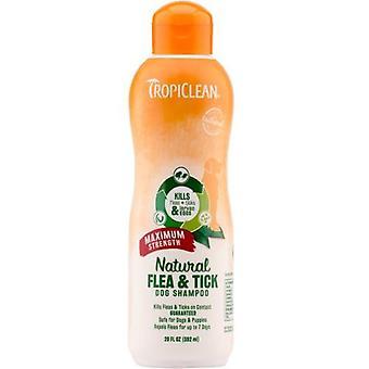 Tropiclean Natural Flea & Tick Dog Shampoo