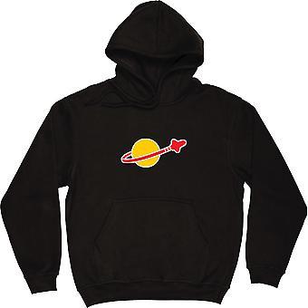 Space Logo Black Hooded-Top
