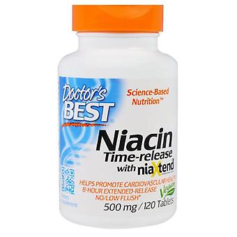 Niacina- Time-Released With Niaxtend 500 mg (120 Tablets) - Doctor's Best