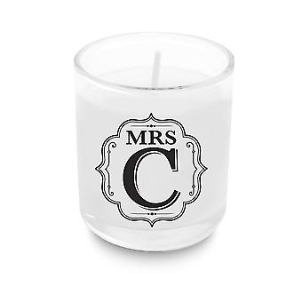 History & Heraldry Alphabet Votive Candle - Mrs C