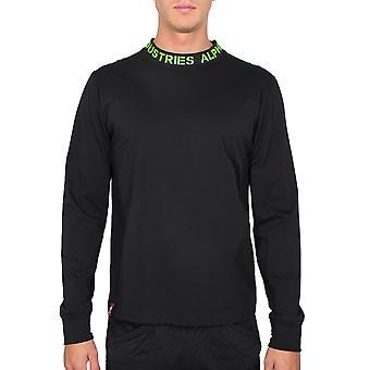 Alpha Industries Men's Long Sleeve Shirt Neck Print
