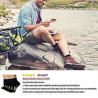 Compression Running Plantar Fasciitis Socks for Men, Beige, Size Large / X-Large