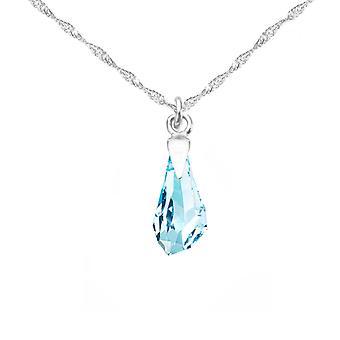 Ah! Smycken 13mm Akvamarin kristaller från Swarovski Polygon Halsband