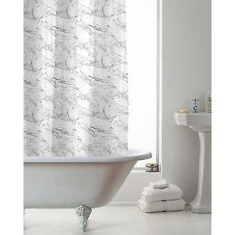 Country Club Hookless Shower Curtain, Grey Marble