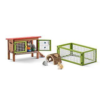 Schleich Farm World Rabbit Hutch Toy (42420)