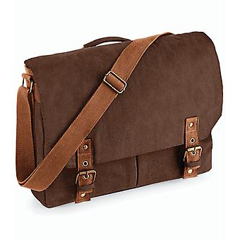 Vintage Canvas Satchel Messenger - brun