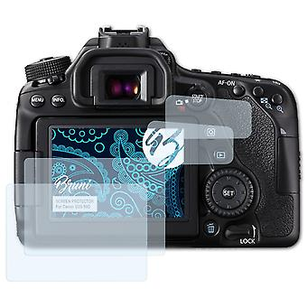 Bruni 2x Película Protectora compatible con Canon EOS 80D Lámina Protectora