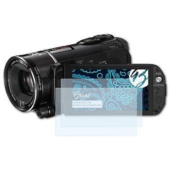 Bruni 2x Screen Protector kompatibel med Canon Legria (Vixia) HF S200 Beskyttelsesfilm