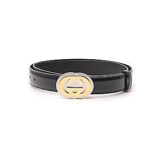 Gucci 598092dt90x1000 Hombres's Cinturón de Cuero Negro