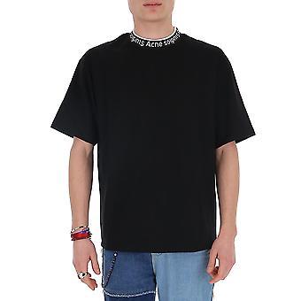 Acne Studios Bl0141black Men's Black Cotton T-shirt