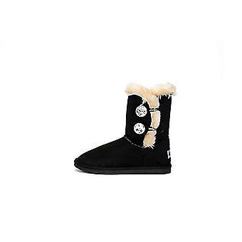 AMELIA Womens Suede Closed Toe Mid-Calf Fashion Boots