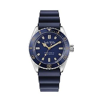 Jack Wills Watches Jw019rbbl Navy Blue Rubber Men's Watch
