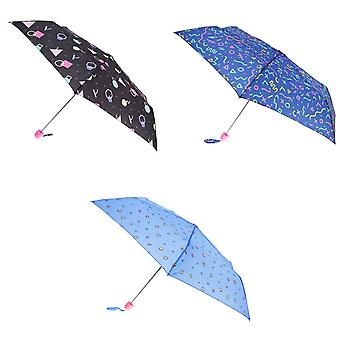 X-brella Womens/Ladies Compact Retro Colour Print Umbrella