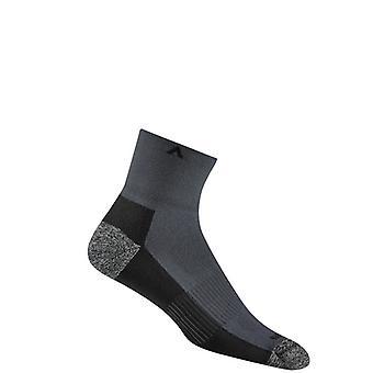 Wigwam Attain Midweight QTR Run Socks ! Graphite